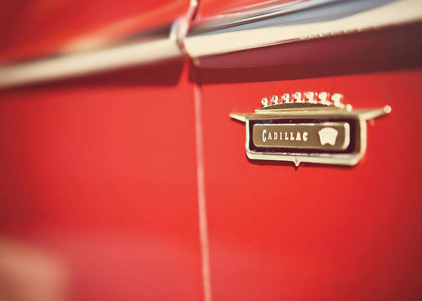 Lisa Russo Wall Art - Photograph - Vintage Caddy Emblem by Lisa Russo