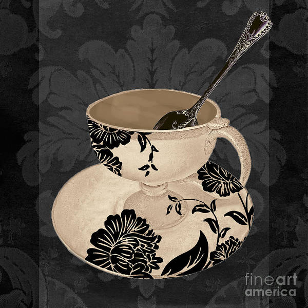 Mocha Painting - Vintage Cafe II by Mindy Sommers