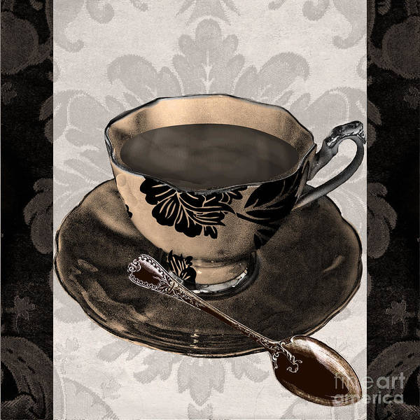 Mocha Painting - Vintage Cafe Iv by Mindy Sommers