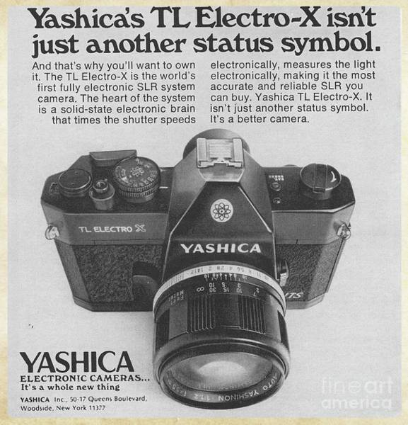 Ad Photograph - Vintage Camera Ad Yashica 1972 by Edward Fielding