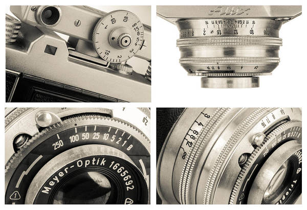 Photograph - Vintage Camera - Collage by Rudy Umans