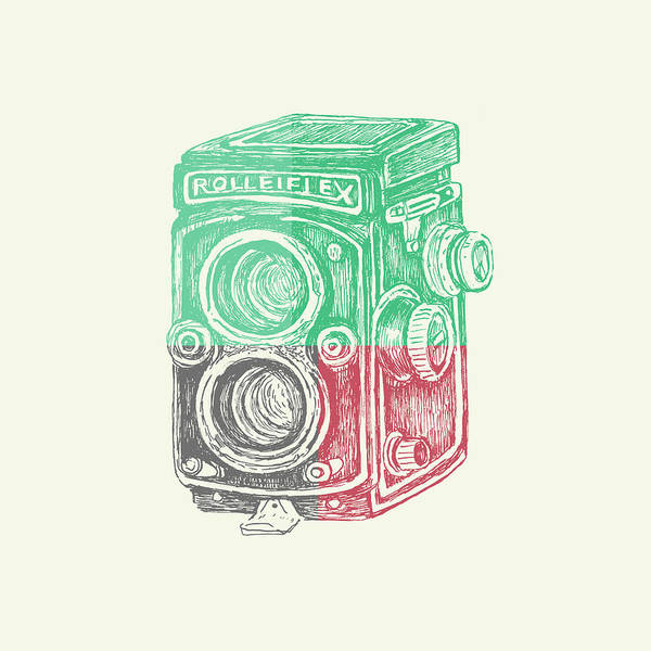 Wall Art - Digital Art - Vintage Camera Color by Brandi Fitzgerald