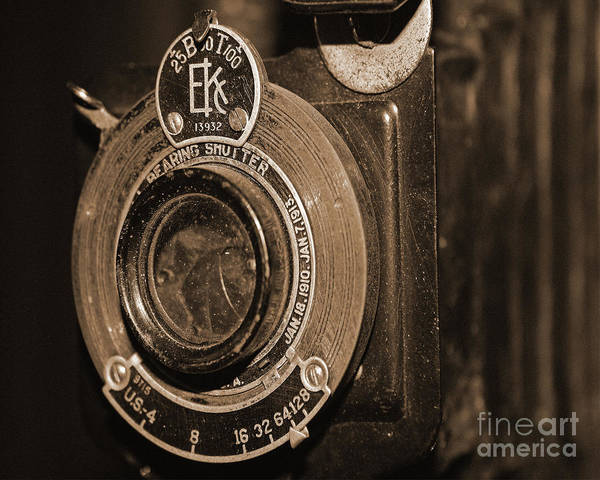 Photograph - Vintage Camera Lens by Kelly Holm