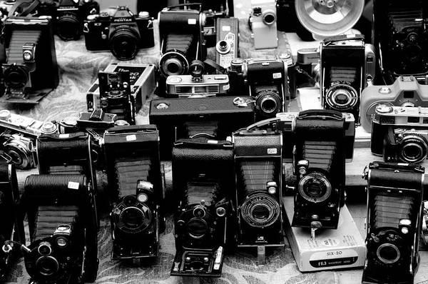 Wall Art - Photograph - Vintage Cameras by Liz Pinchen