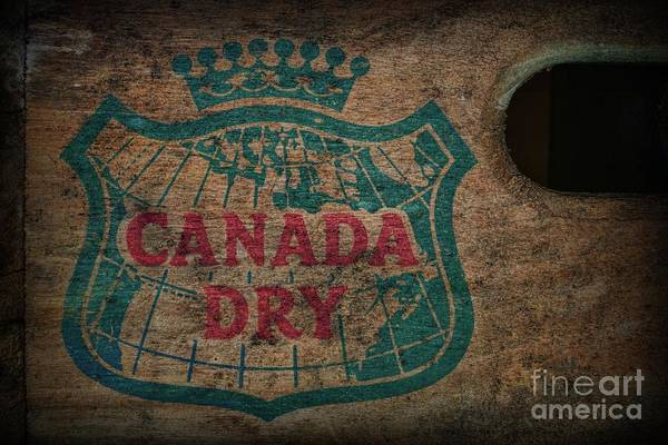 Wall Art - Photograph - Vintage Canada Dry Soda Crate by Paul Ward