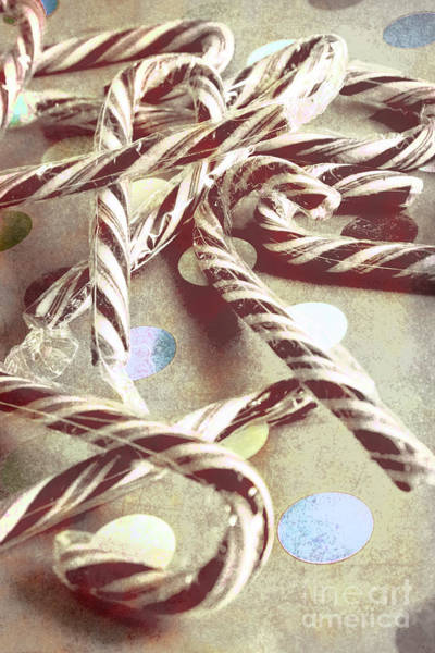 Bright Photograph - Vintage Candy Canes by Jorgo Photography - Wall Art Gallery