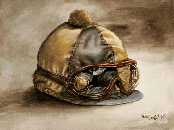 Silk Painting - Vintage Cap by Thomas Allen Pauly