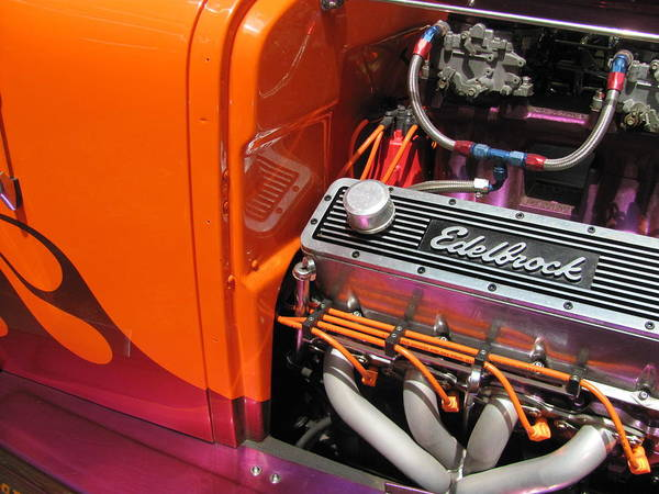 Photograph - Vintage Car - Edelbrock Engine 1 by Anita Burgermeister