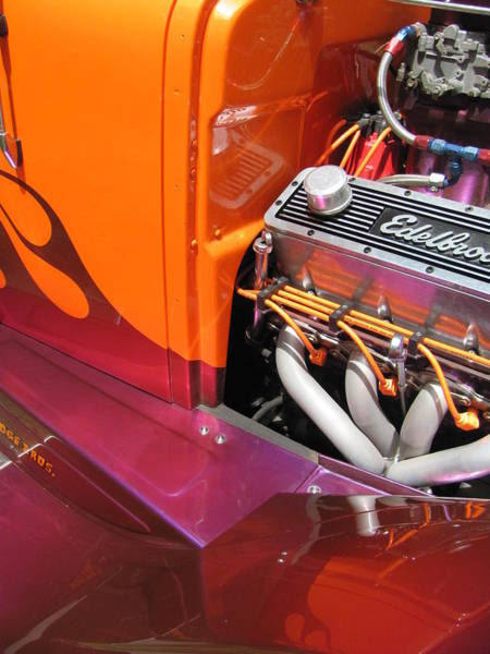 Photograph - Vintage Car - Edelbrock Engine 2 by Anita Burgermeister