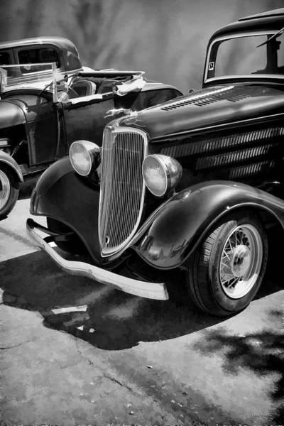 Photograph - Vintage Car 0161 Bw Art by Lesa Fine