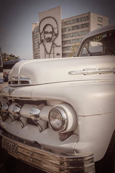 Photograph - Vintage Car And Cienfuegos by Joan Carroll