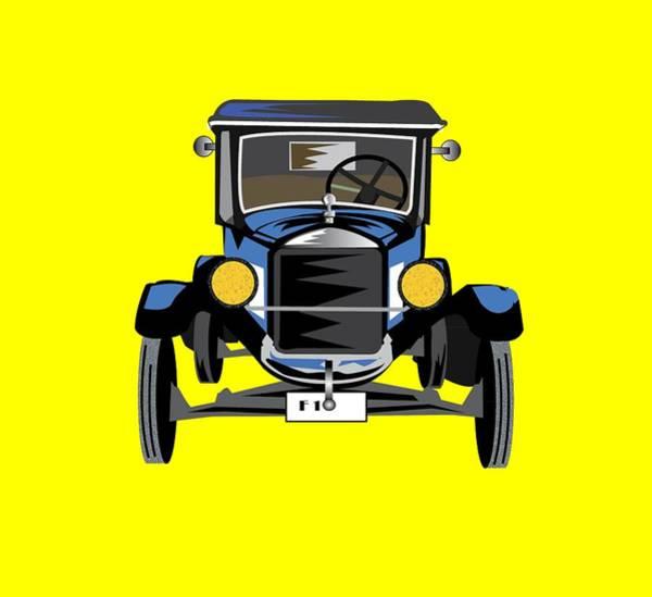 Wall Art - Digital Art - Vintage Car by Andy Donald
