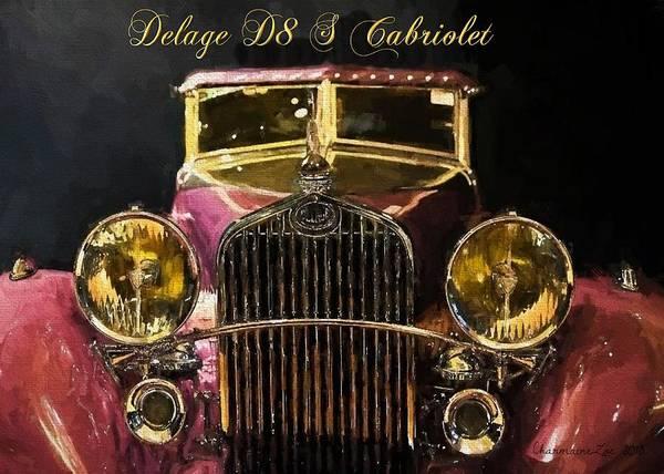 Digital Art - Vintage Car by Charmaine Zoe