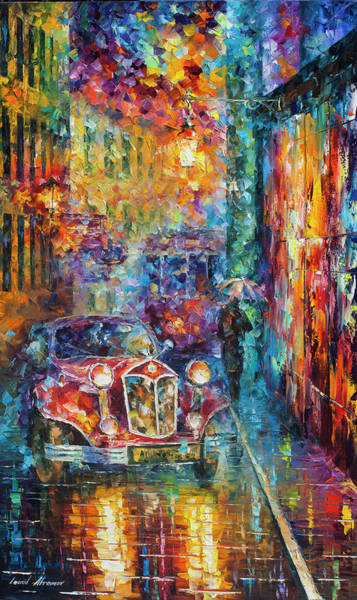 Wall Art - Painting - Vintage Car Collection Piece 11 by Leonid Afremov
