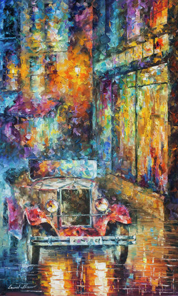 Wall Art - Painting - Vintage Car Collection Piece 12  by Leonid Afremov