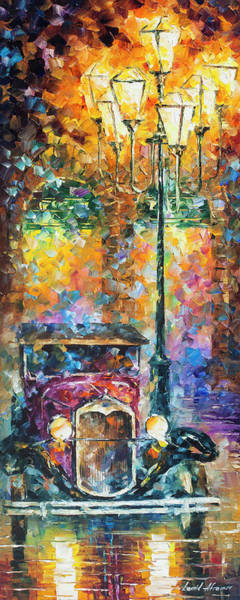 Wall Art - Painting - Vintage Car Collection Piece 13 by Leonid Afremov