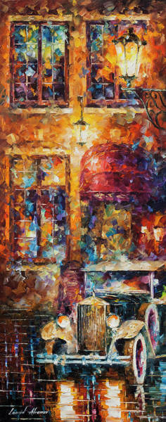 Wall Art - Painting - Vintage Car Collection Piece 16  by Leonid Afremov