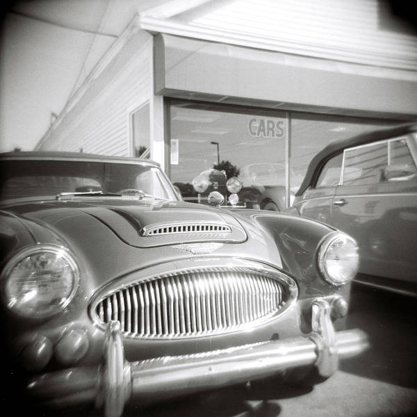 Photograph - Vintage Car Lot by Jeff Folger