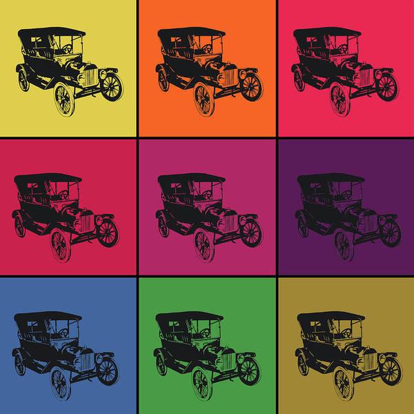 Exhaust Digital Art - Vintage Car Pop Art Collage by Art Spectrum