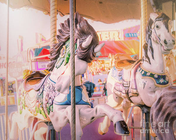 Photograph - Vintage Carousel  by Andrea Anderegg