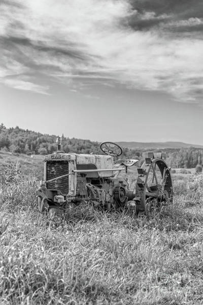 Wall Art - Photograph - Vintage Case Tractor Montpelier Vermont by Edward Fielding