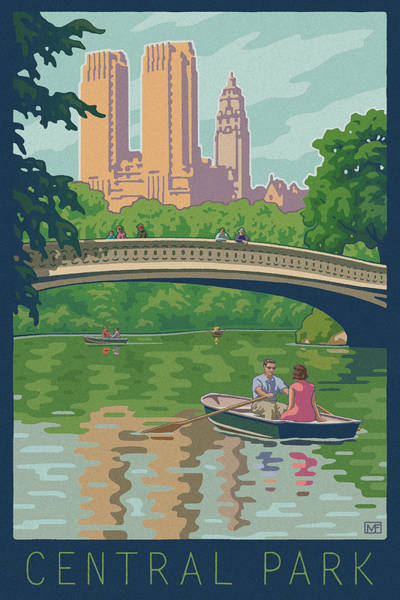 Boats Digital Art - Vintage Central Park by Mitch Frey