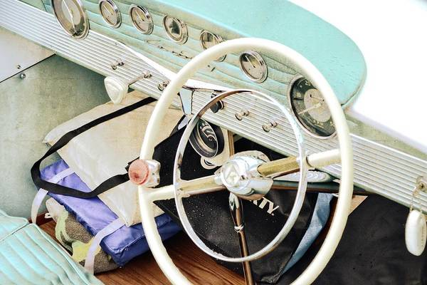 Photograph - Vintage Century Boat Interior by Michelle Calkins