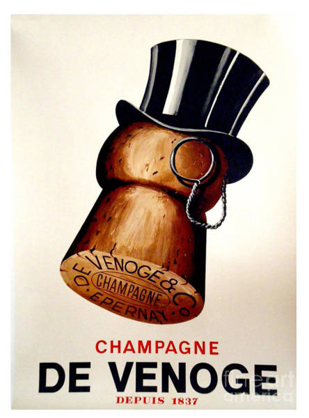 Gold Painting - Vintage Champagne by Mindy Sommers