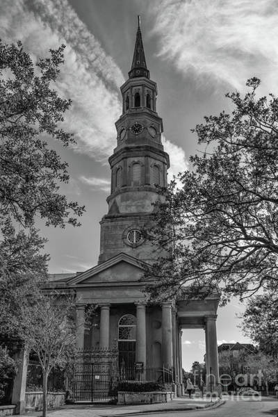 Photograph - Vintage Charleston Church Landmark by Dale Powell