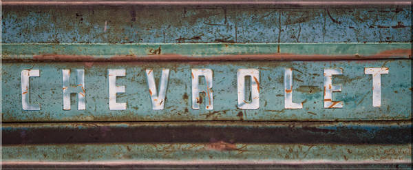 Photograph - Vintage Chevrolet Tailgate by Lynn Bauer