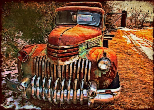 Photograph - Vintage Chevrolet Tow Truck by Anna Louise