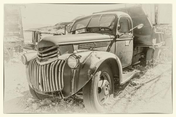 Dump Truck Digital Art - Vintage Chevy Dump Truck by Andrew Wilson