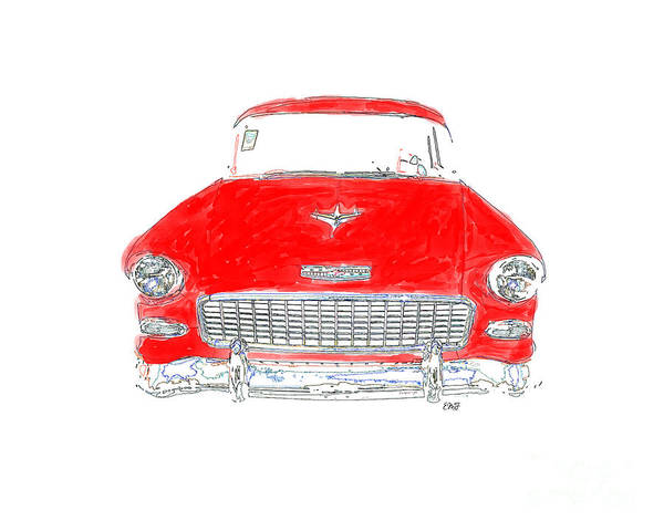 Wall Art - Photograph - Vintage Chevy by Edward Fielding