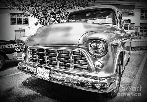 Wall Art - Photograph - Vintage Chevy Pick Up Truck Black And White by Paul Ward