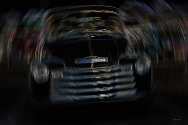 Photograph - Vintage Chevy Truck Neon Art Shaken by Lesa Fine
