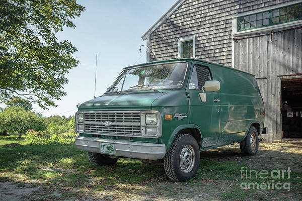 Wall Art - Photograph - Vintage Chevy Van by Edward Fielding