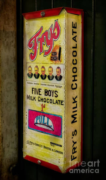 Tin Sign Photograph - Vintage Chocolate Vending by Adrian Evans