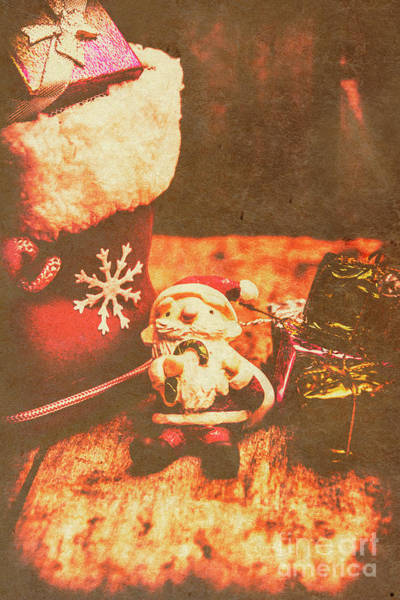 Postcard Photograph - Vintage Christmas Art by Jorgo Photography - Wall Art Gallery