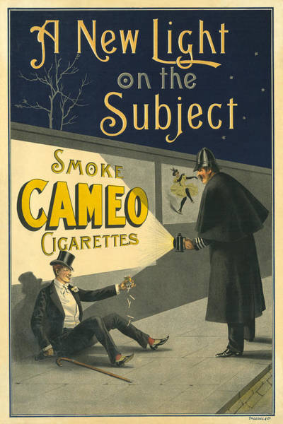 Photograph - Vintage Cigarette Ad 1900 by Andrew Fare