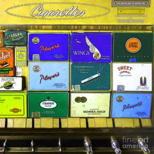 Photograph - Vintage Cigarette Dispenser 20150830 Square P28 by Wingsdomain Art and Photography