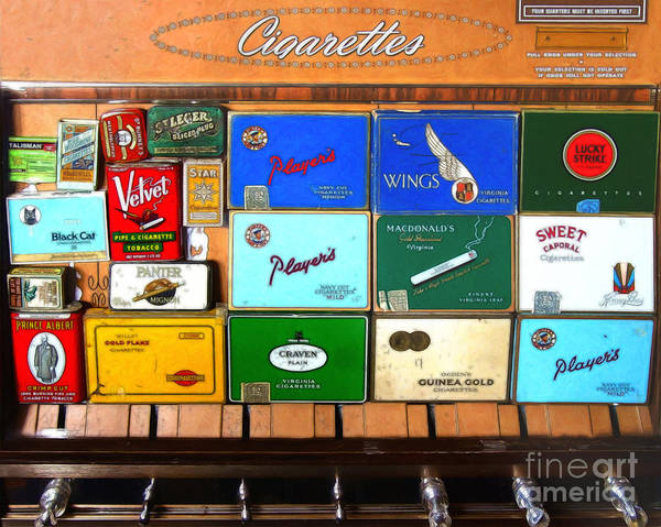 Photograph - Vintage Cigarette Dispenser 20150830 by Wingsdomain Art and Photography