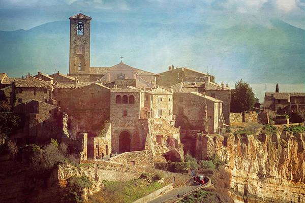 Tuff Wall Art - Photograph - Vintage Civita Di Bagnoregio Italy by Joan Carroll