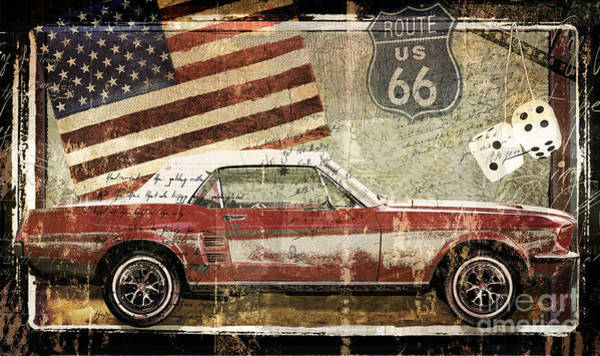 Wall Art - Painting - Vintage Classic Auto by Mindy Sommers