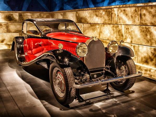 Photograph - Vintage Classic Car Bugatti 1931 by Joy of Life Art Gallery