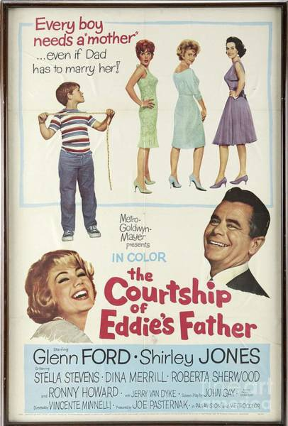 Courtship Wall Art - Painting - Vintage Classic Movie Posters, The Courtship Of Eddie's Father by Esoterica Art Agency