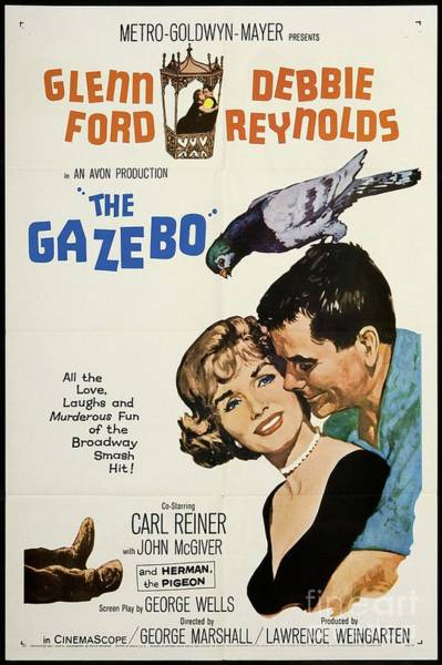 Wall Art - Painting - Vintage Classic Movie Posters, The Gazebo by Esoterica Art Agency