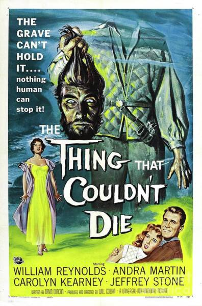 Wall Art - Painting - Vintage Classic Movie Posters, The Thing That Coudn't Die by Esoterica Art Agency