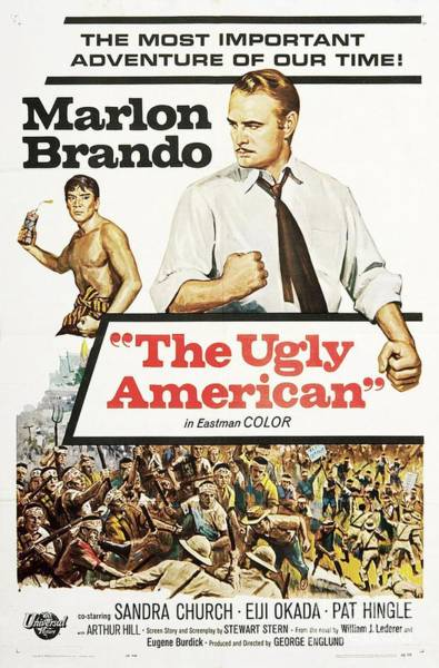 Ugly Painting - Vintage Classic Movie Posters, The Ugly American by Esoterica Art Agency