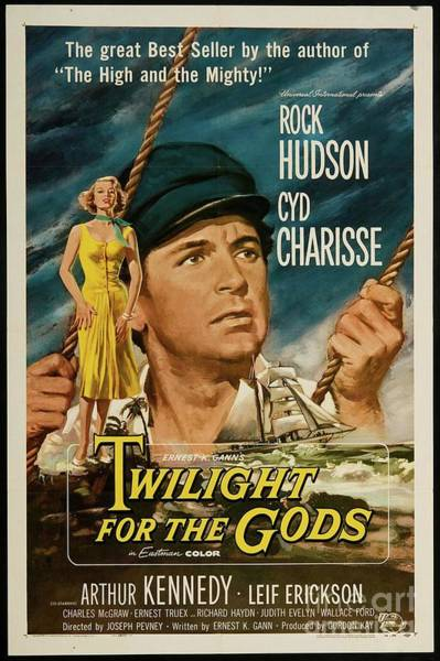 Charisse Painting - Vintage Classic Movie Posters, Twilight For The Gods by Esoterica Art Agency