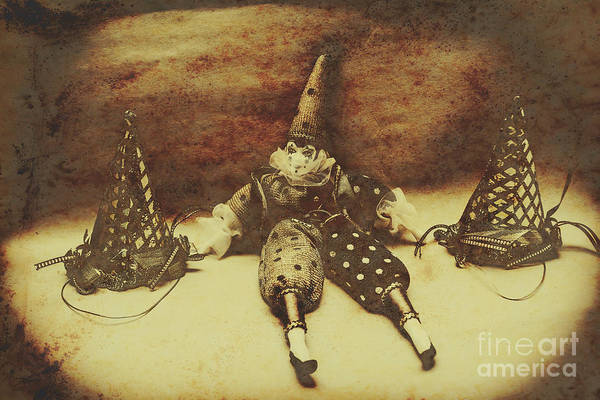 Circus Photograph - Vintage Clown Doll. Old Parties by Jorgo Photography - Wall Art Gallery